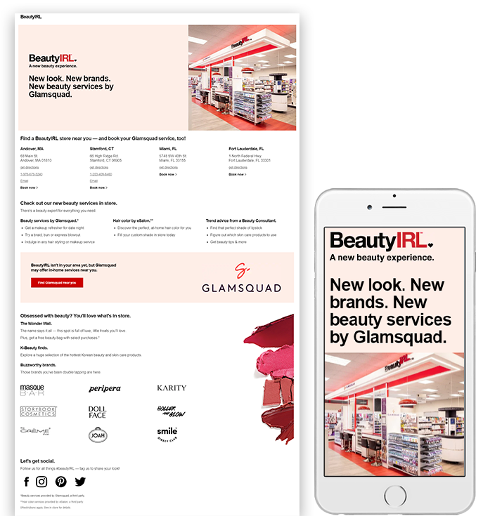 CVS Beauty In Real Life desktop and mobile view